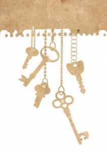 鍵の切り絵