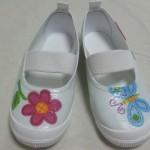 幼稚園で履く上履きデコの簡単なやり方~材料は100均でOK!