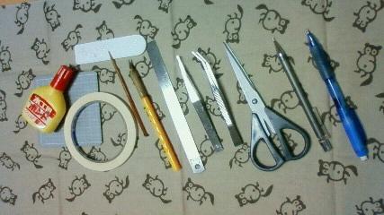 切り絵の道具