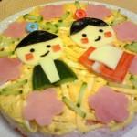 ひな祭りちらし寿司ケーキ