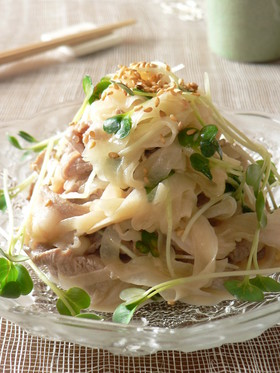 新玉ねぎ豚肉サラダ