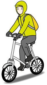 雨の自転車