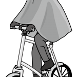 自転車での突然の雨に備える雨具~おすすめポンチョはコレ!